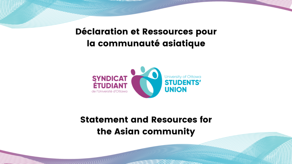 Statement and Resources for the Asian community